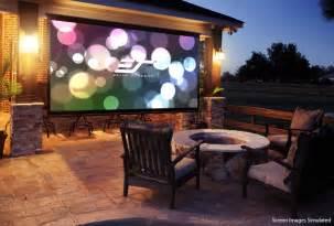 backyard projector screen outdoor projector screen for elite screens