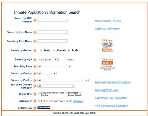 Search Arkansas Arkansas Inmate Search Ar Department Of Corrections Inmate Locator