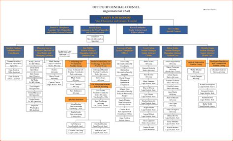 sle organizational chart template word