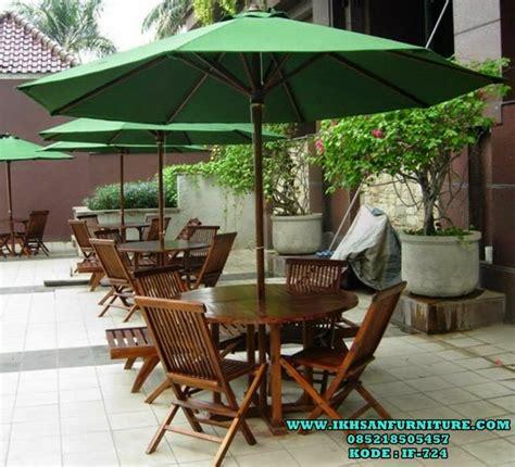 kursi meja payung taman meja payung cafe kayu jati