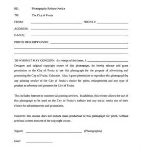 photo print release form template sle print release forms 7 free documents in pdf