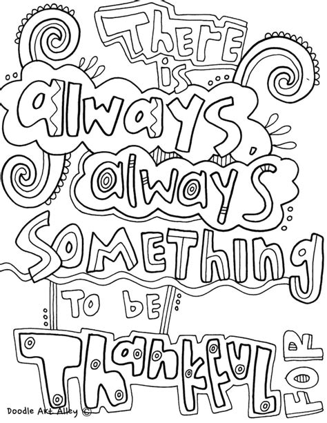 coloring quotes quote coloring pages doodle alley