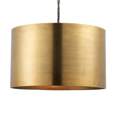 aged brass pendant light endon 69782 morad drum pendant light in aged brass
