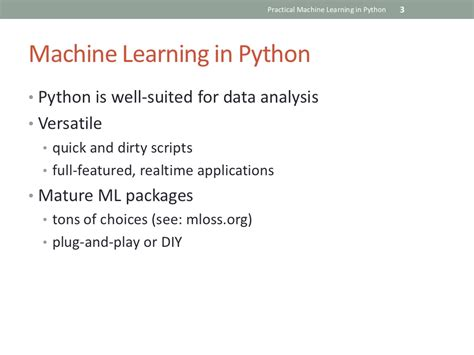 python tutorial machine learning practical machine learning in python