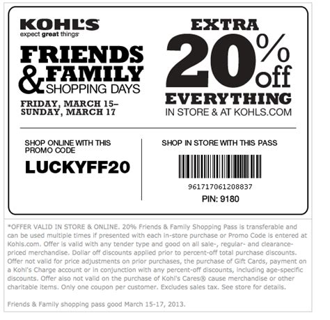 Kohls Printable Coupons Free Shipping free printable coupons kohls coupons