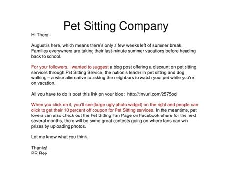 Pet Cover Letter by How To Pitch