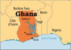 Ghana World Map by Ghana Operation World