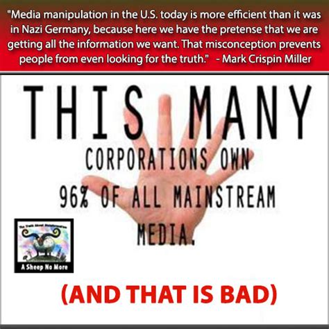 No More In The Media by A Sheep No More Who Owns The Media The 6 Monolithic
