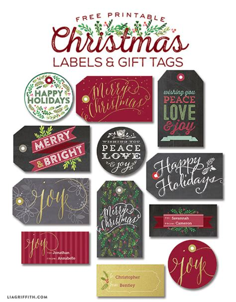 printable gift labels tags by the lia griffith gift tags labels to print lia griffith