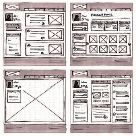 Sketches And Wireframes by 18 Great Exles Of Sketched Ui Wireframes And Mockups