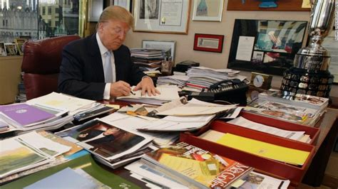 trump desk trump s desk on display clutter and all cnnpolitics