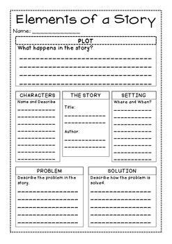 printable quiz on story elements freebie story elements graphic organizer best of tpt