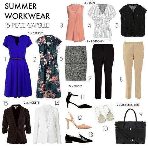 Summer Capsule Wardrobe by How To Create A 15 Summer Workwear Capsule Wardrobe
