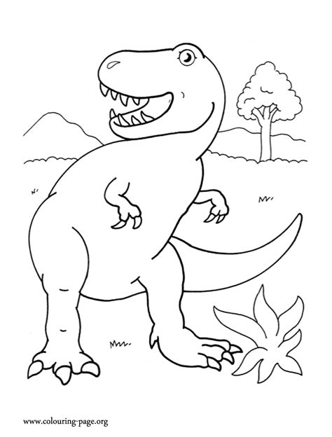 dinosaurs tyrannosaurus coloring page az coloring pages