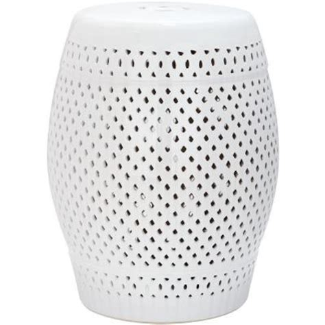 Ceramic Stool White by Safavieh White Ceramic Patio Stool Acs4507a The