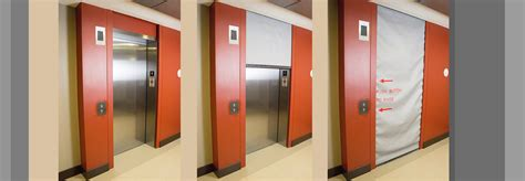 elevator smoke curtain door systems integrated door assemblies smoke fire