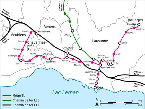 lausanne map lausanne metro map switzerland