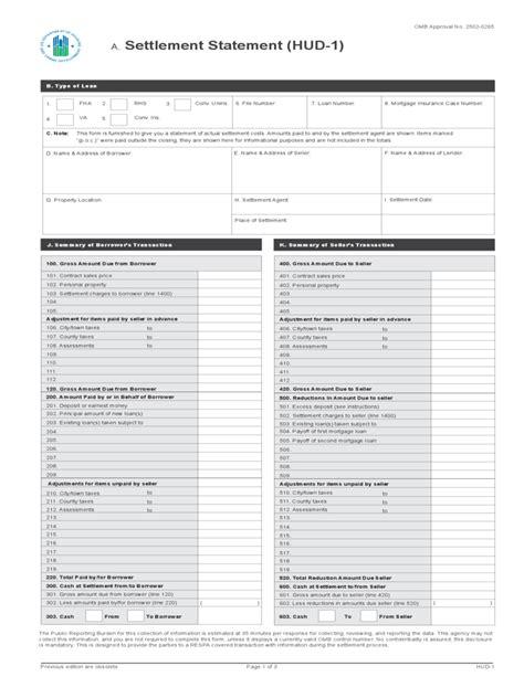 Settlement Statement Form 3 Free Templates In Pdf Word Excel Download Free Settlement Statement Template