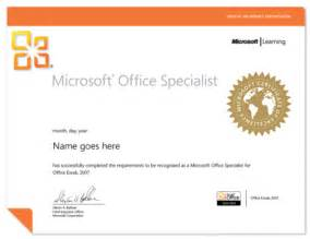 Ms Office Certificate Template Microsoft Office Specialist Mos Exam Authorized Testing