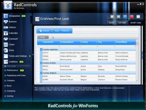 telerik themes exles overview of telerik ui for winforms youtube
