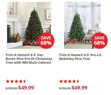trim a home brilliant tree trim a home 6 5 pre lit trees only 49 99 shipped reg 159 99