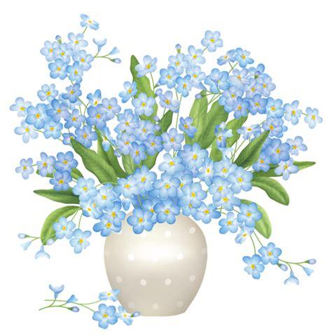 Flower Vase Png by Blue Flowers Vase Png Clipart Mutfak Dekopaj