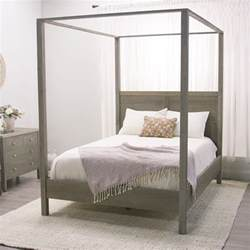 canapy bed gray marlon queen canopy bed world market