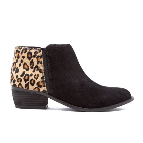 womens leopard boots dune s penelope suede ankle boots leopard pony