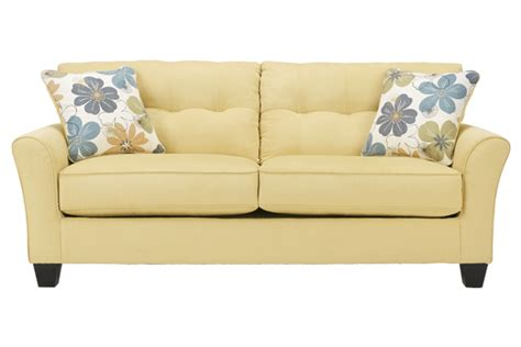 ashley furniture yellow sofa kylee goldenrod sofa yellow upholstery coastal styles