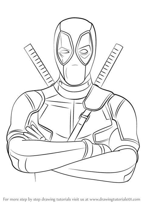 easy cartoon drawings of deadpool pictures to pin on