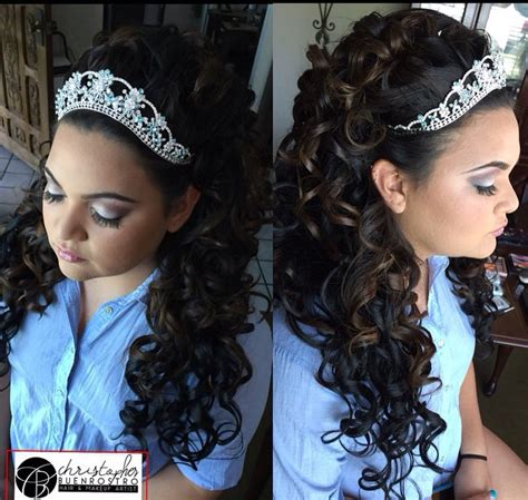 quinceanera hairstyles for long hair with tiara christopherbuenrostro buenrostrochristopher