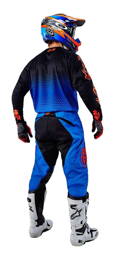 troy lee motocross gear troy lee designs 2016 se starburst ktm blue orange pants