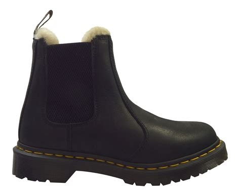 Burnished Chelsea Boots dr martens leonore faux fur lined burnished wyoming
