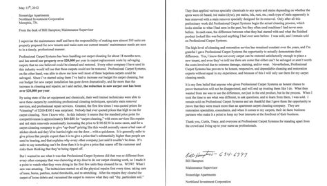 Apartment Manager Letter Of Recommendation carpet cleaning apartment letter of recommendation