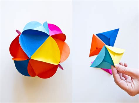 Paper Balls Craft - craft project paper flower balls intro