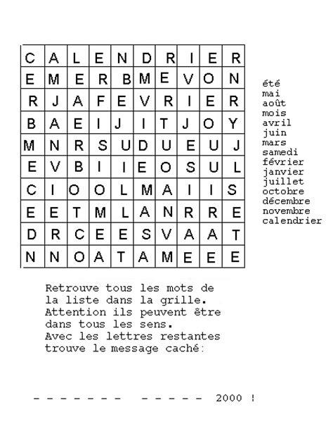 Calendrier 4 Lettres Mots Cach 233 S Du Calendrier Momes Net