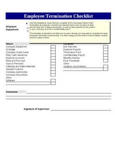 Termination Checklist Template by Employee Termination Checklist Template Hashdoc
