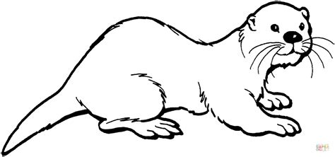 otter 2 coloring page free printable coloring pages