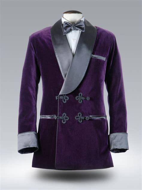 Pure Opulence Royal Purple Velvet Smoking Jacket With Passementerie