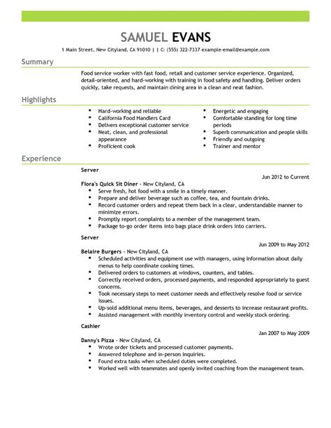 exle of a resume resumes resume cv exle template