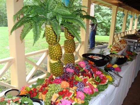 Luau Buffet Table Adeline Leigh Catering Appetizing Appetizer Displays