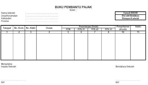 format buku pembantu bank buku pembantu bank dan pajak format bos k5 dan k6 deuniv