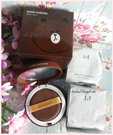 Harga Missha M Line Friends Magic Cushion Special Edition chu review missha x line friends magic cushion