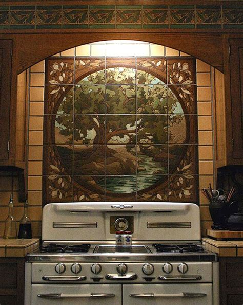 Kitchen Tile Murals Tile Art Backsplashes by Artful Tile For Kitchen Amp Bath Arts Amp Crafts Homes And