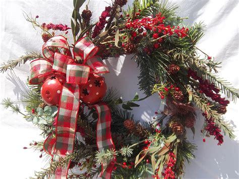 country christmas wreath primitive pine wreath