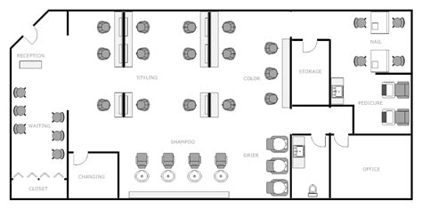 hair salon layout cad salon layout