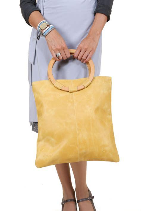 Handbag Levis 1102 02 yellow leather bag sigal levi leather design