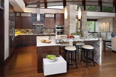 contemporary kitchen countertop material for modern theme impressive kitchen stone backsplash ideas for white and