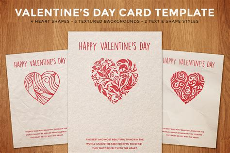 valitines day card template simple s day card template design panoply