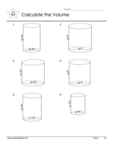 Volume Of Cylinders Worksheet by Volume Of A Cylinder Worksheets